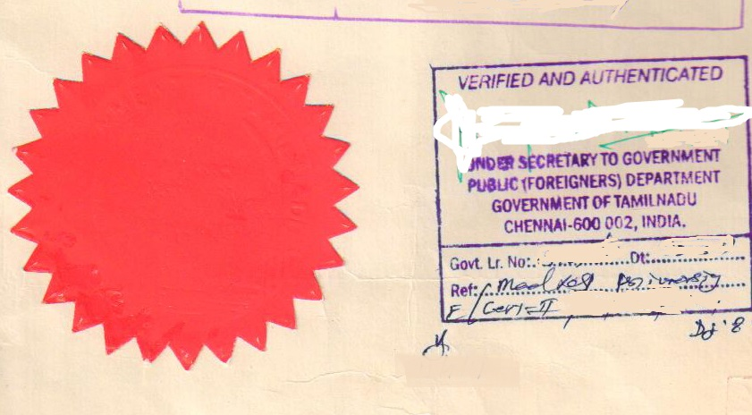 mea attestation stamp uae attestation